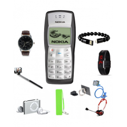 Top-Ten 10 In 1 Bundle Offer, Nokia 1100, Yazole Fashion Business Watch, Universal USB Bracelet Selfie Stick, MP3 Player, MobilePhone Holder, Mobile Phone Ring Holder, Power Bank, Headphone, LED Band Watch