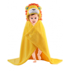 Baby Cute Animal Shape Baby Hooded Bathrobe Bath Towel