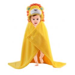 Baby Cute Animal Shape Baby Hooded Bathrobe Bath Towel