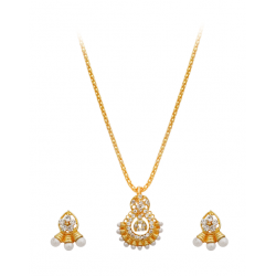 Best Trust Fashion 18K Gold Plated Kite Diamond Shape Design Necklace With Crystal Stones, TB03