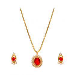 Best Trust Fashion 18K Gold Plated Kite Diamond Shape Design Necklace With Crystal Stones, TB04