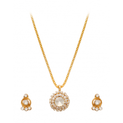 Best Trust Fashion 18K Gold Plated Kite Diamond Shape Design Necklace With Crystal Stones, TB06