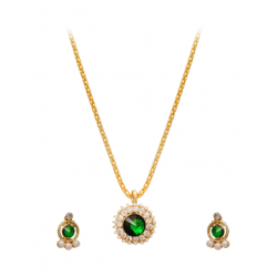 Best Trust Fashion 18K Gold Plated Kite Diamond Shape Design Necklace With Crystal Stones, TB08
