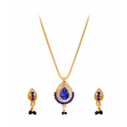 Best Trust Fashion 18K Gold Plated Kite Diamond Shape Design Necklace With Crystal Stones, TB09