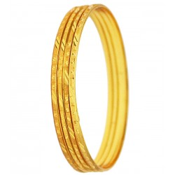 Nacre 4pc 18K Gold Plated Bangles