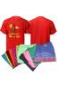 Universal T13, 3Pcs Set Assorted Color unisex  T-Shirt