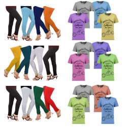 24 in 1 Bundle Offer, Universal T-Shirt And Leggings Set Assorted Colors And Designs