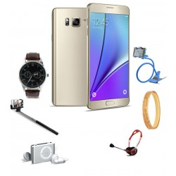 7 in 1 Bundle Offer, Kimfly Z31 Smartphone, Yazole Fashion Watch, Selfie Stick, Mp3 Player, Headphone, Nacre 4pc 18K Gold Plated Bangles, Mobile Holder