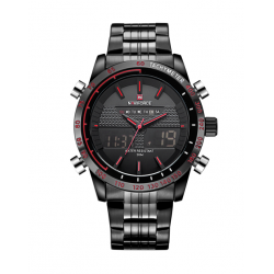 Naviforce Dual Display Men's Stainless Watch NF9024-red
