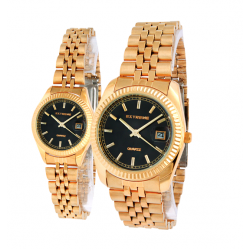 Extreme 22K Gold Plated Pair Watch For Men&Women,EX1039G/1039L