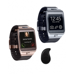 3 in 1 Bundle Offer, 2 Hpc W8 Smart Watch, Invisible Bluetooth Headsets