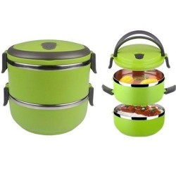 Colored hot sale stainless steel 2 layer korean lunch box, GPF002