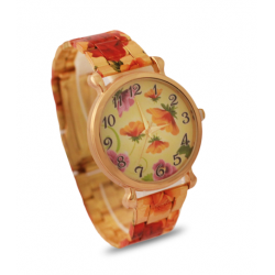 Qmax Fancy Watch For Women, NB66, Gold