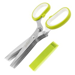 Multifunction Kitchen Stainless Steel Herb Scissors with 5 Blades, M5336