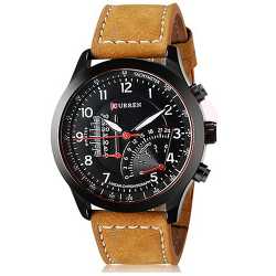 Curren Genuine Leather Band Watch For Men, M8152