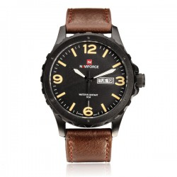 Naviforce Genuine Leather Fashion Sports Watch For Men, NF9039M