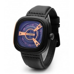 Kademan Trendy Stylish Genuine Leather Watch For Men, 365B, Black