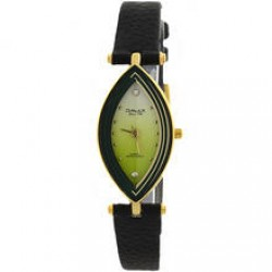 Omax Genuine Leather Band Watch For Women, CT7766