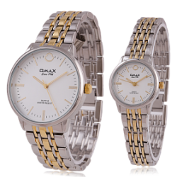Omax Stainless Steel Pair Watch For Men & Women, HBJ939NH08