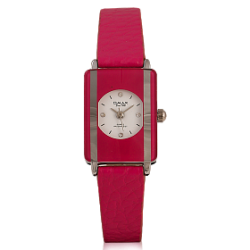 Omax Genuine Leather Band Watch For Women, CE0006, Pink