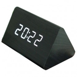 Multi Function Led Wooden Digital Alarm Clock With Temperature, Date And Sound Control, LED011