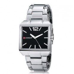 Curren Trendy Stylish Stainless Steel Watch For Men, 8132, Silver