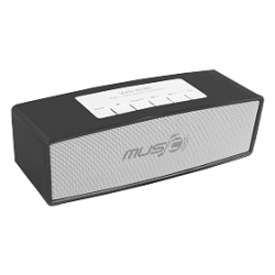 Zooni Wireless Bluetooth Speaker With Micro SD, FM & USB Support (WS-636), Black