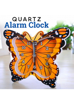 Quartz Butterfly Design Alarm Table Clock Gift, BT232