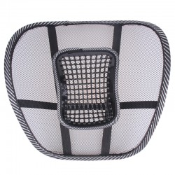 2 Pcs Car Seat Mesh Ventilate Back Massage Lumbar Support Cushion Pad, CR258