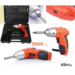 Iuoye Tools 45Pcs Cordless Screwdriver 180RPM