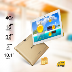CCIT T3Max, SIM Tablet, 10.1 inch, Android 6.0,  4G, 32GB, 3GB, WiFi, Dual Core, Dual Camera, Gold