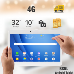 BSNL A43, Tablet 10 Inch, 32GB, 4G Dual Sim, Dual Cam, Dual Core 1.5GHz, Bluetooth, Pink