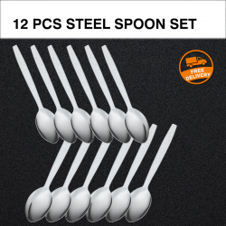 12 Pcs High Quality Stainless Steel Spoon Set, G056