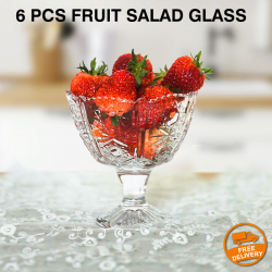 6 Pcs Waterford Crystal Colleen Short Stem Fruit Salad Glass, G049