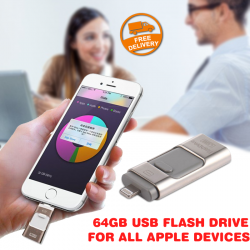 iFlashDrive HD 64GB USB Flash Drive For All Apple Devices with Lightning Connector