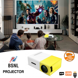BSNL Entertainment Mini LED Projector, 600 Lumens, With HDMI, AV, USB, SD Card Slot