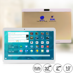 BSNL B43, Tablet 10 Inch, Android 4.4, 32GB, Wi-Fi, 3G, Bluetooth, Dual Core, Dual Camera, Gold