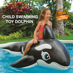 Intex Inflatable Child Swimming Toy Dolphin, 58539NP