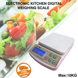 Electronic Kitchen Digital Weighing Scale 10 Kg With Batteries, SF400