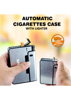 Focus Long Cloud Automatic Cigarettes Case With Lighter, JDYH02