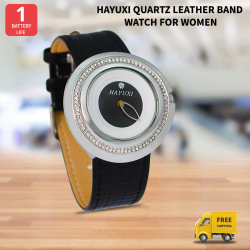 Hayuxi Quartz Leather Band Watch For Women, HP975