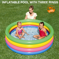 Intex Inflatable Pool With Three Rings 61X22Cm, 57107NP