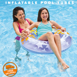 Intex Neon Frosted Inflatable Pool Tubes, 59260NP