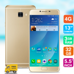 "Mione C7 Plus, 4G Dual Sim, Dual Cam, 5.5"" IPS, 32GB, Gold"
