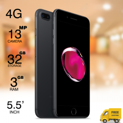 "Mione i7S Plus, 4G Dual Sim, Dual Cam, 5.5"" IPS, 32GB, Black"