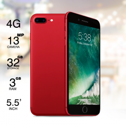"Mione i7S Plus, 4G Dual Sim, Dual Cam, 5.5"" IPS, 32GB, Red"
