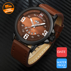 Naviforce Genuine Leather Band Watch For Men, NF9086M
