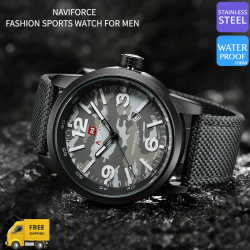 Naviforce Genuine Leather Fashion Sports Watch For Men, NF9080