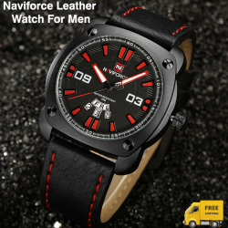 Naviforce Genuine Leather Fashion Sports Watch For Men, NF9096M