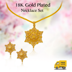 Trust Best 18K Gold Plated Fashion 6 Layer Star Pendent Necklace Set, TB012